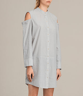 Damen Floria Stripe Dress (Grey/Chalk) - product_image_alt_text_3