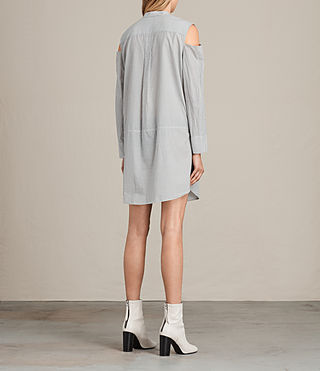 Damen Floria Stripe Dress (Grey/Chalk) - product_image_alt_text_5