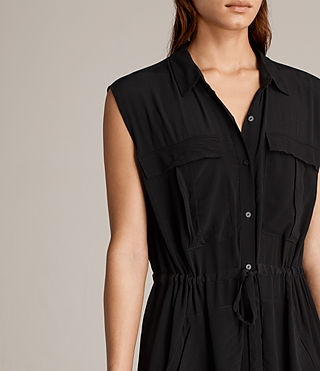 Womens Millie Sleeveless Dress (Black) - product_image_alt_text_2