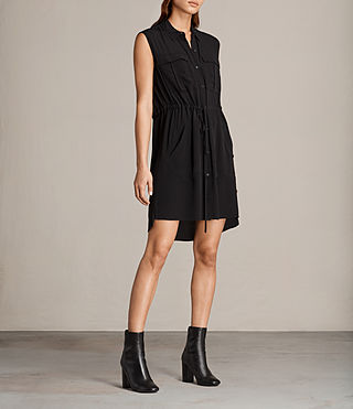 Womens Millie Sleeveless Dress (Black) - product_image_alt_text_3