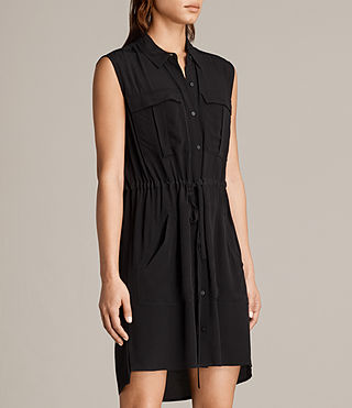Womens Millie Sleeveless Dress (Black) - product_image_alt_text_5