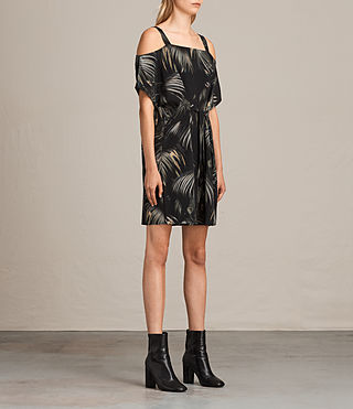 Women's Rae Neluwa Silk Dress (Black) - product_image_alt_text_3