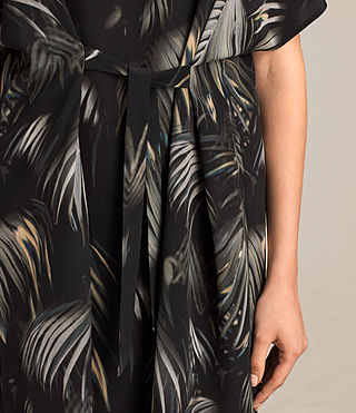 Women's Rae Neluwa Silk Dress (Black) - product_image_alt_text_4