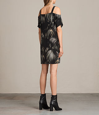 Women's Rae Neluwa Silk Dress (Black) - product_image_alt_text_5