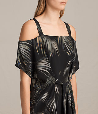 Women's Rae Neluwa Silk Dress (Black) - product_image_alt_text_6