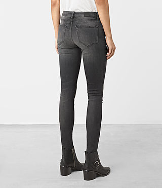 Womens Mast Damaged Jeans (Black) - product_image_alt_text_3
