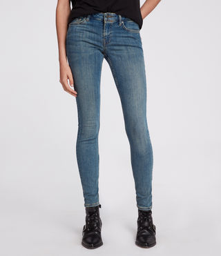 Women's Mast Jeans (Washed Indigo) - Image 1
