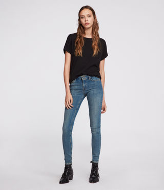 Women's Mast Jeans (Washed Indigo) - Image 2