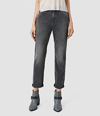 Femmes Amy Girlfriend Jeans (Dark Grey)