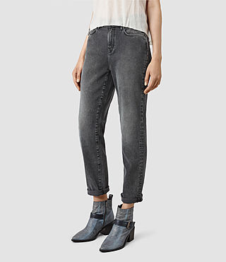 Mujer Amy Girlfriend Jeans (Dark Grey) - product_image_alt_text_2