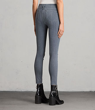 Damen Grace Slashed Jeans (Grey) - product_image_alt_text_2