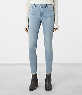 Women's Eve Jeans (LIGHT INDIGO BLUE)