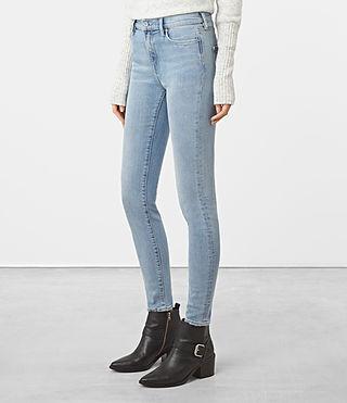 Womens Eve Jeans (LIGHT INDIGO BLUE) - product_image_alt_text_2