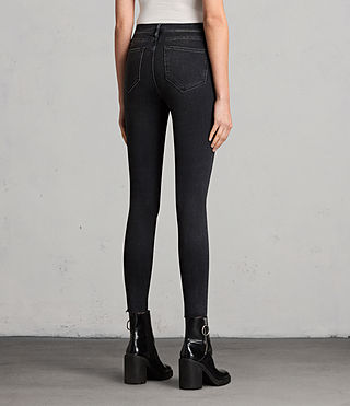 Femmes Jean Grace Slashed (Washed Black) - product_image_alt_text_2