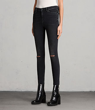 Femmes Jean Grace Slashed (Washed Black) - product_image_alt_text_4