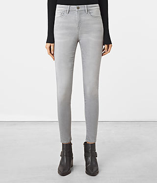 Womens Eve Lux Jeans (Steel Grey)