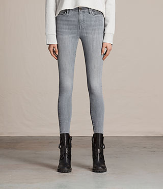 Donne Eve Ankle Jeans (Stone Grey)