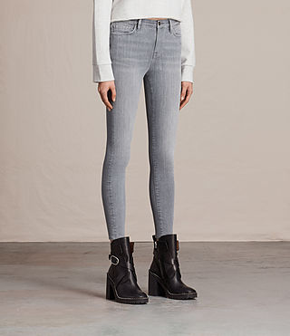 Women's Eve Ankle Jeans (Stone Grey) - product_image_alt_text_4