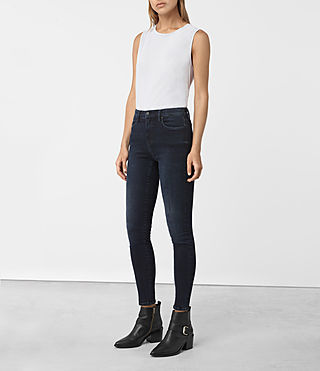 Women's Eve Lux Jeans (Dark Blue) - product_image_alt_text_2