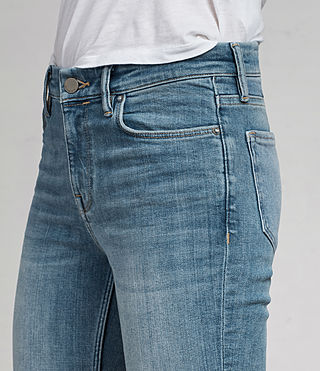 Womens Grace Ankle Fray Jeans (LIGHT INDIGO BLUE) - Image 2