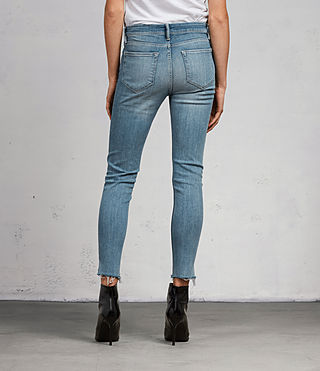 Womens Grace Ankle Fray Jeans (LIGHT INDIGO BLUE) - Image 5