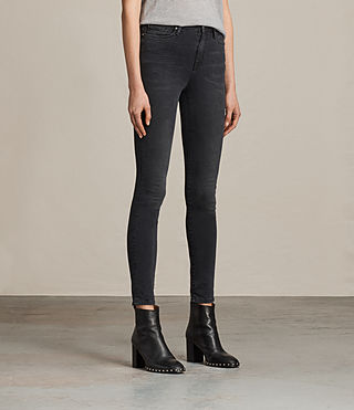 Womens Eve Lux Jeans (Washed Black) - product_image_alt_text_3