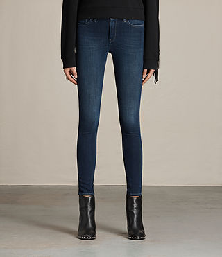 Womens Jewel Jeans (DARK INDIGO BLUE)