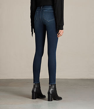Women's Jewel Jeans (DARK INDIGO BLUE) - product_image_alt_text_3