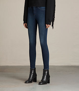 Women's Jewel Jeans (DARK INDIGO BLUE) - product_image_alt_text_4