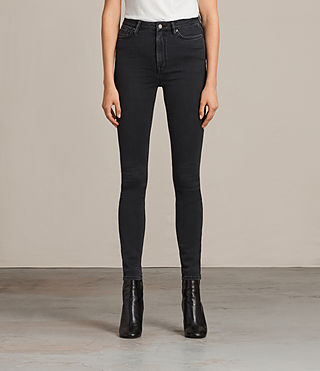 Damen Stilt Jeans (Dark Grey)