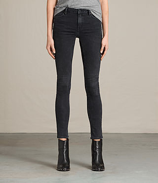Womens Jewel Jeans (SOFT BLACK)