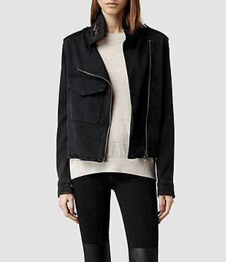 Womens Hendon Jacket (Washed Black)