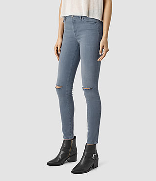 Mujer Grace Slashed Jeans (Blue) - product_image_alt_text_2