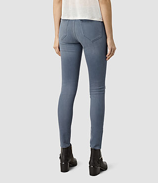 Mujer Grace Slashed Jeans (Blue) - product_image_alt_text_3