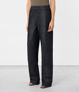 Womens Bloom Denim Lounge Pants (DARK INDIGO BLUE) - product_image_alt_text_2