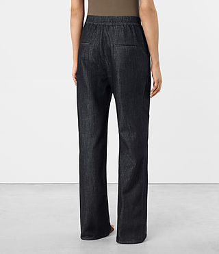 Womens Bloom Denim Lounge Pants (DARK INDIGO BLUE) - product_image_alt_text_3