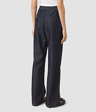 Womens Bloom Denim Lounge Pants (DARK INDIGO BLUE) - product_image_alt_text_4