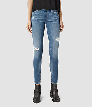 Womens Mast Destroys Jeans (Fresh Blue)