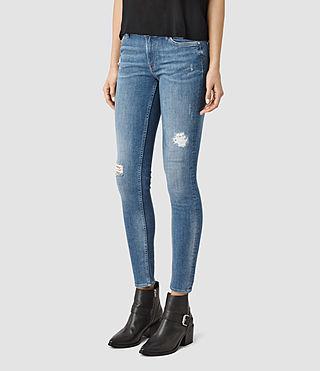 Femmes Mast Destroys Jeans (Fresh Blue) - product_image_alt_text_2