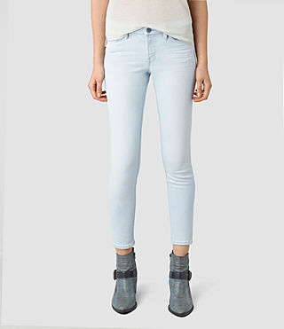 Womens Mast Cropped Jeans (Bleach)