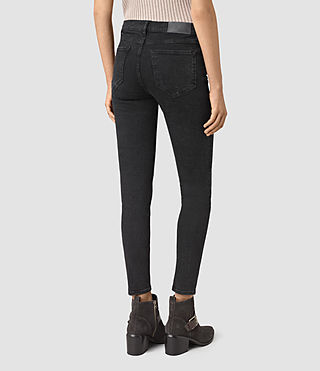 Womens Track Ankle Jeans (Washed Black) - product_image_alt_text_3