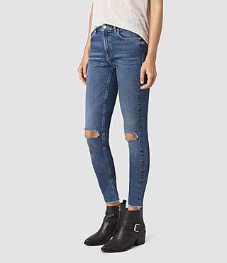 Women's Stilt Cropped Jeans / Dark Indigo (DARK INDIGO BLUE) - product_image_alt_text_2