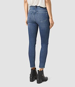 Womens Stilt Cropped Jeans / Dark Indigo (DARK INDIGO BLUE) - product_image_alt_text_3
