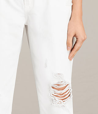 Women's Muse Slim Destroy Jeans (Chalk White) - Image 2