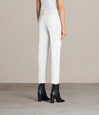 Women's Muse Slim Destroy Jeans (Chalk White) - Image 4