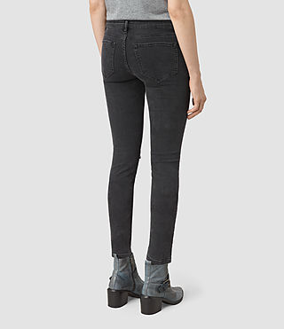 Womens Mast Shredded Jeans (Washed Black) - product_image_alt_text_3