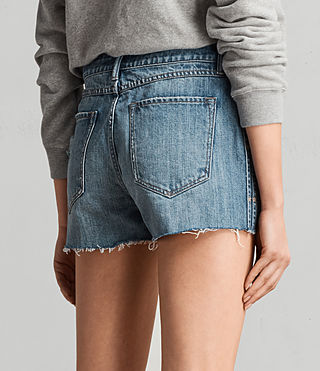 Women's Serene Embroidered Denim Shorts (VINTAGE INDIGO BLU) - product_image_alt_text_4