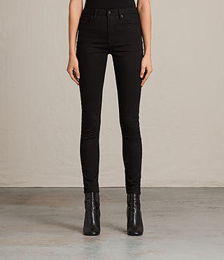 Damen Stilt Jeans (Jet Black)