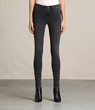 Womens Grace Jeans (Washed Black) - Image 1
