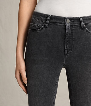 Womens Grace Jeans (Washed Black) - Image 2